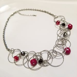 Silver Looped Necklace